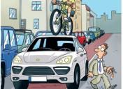 Mehr Verständnis_____Parken______PKW – Fahrrad, Fahrrad – PKW