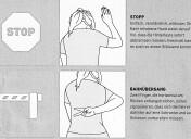 Handzeichen beim Radfahren für die Hintermänner